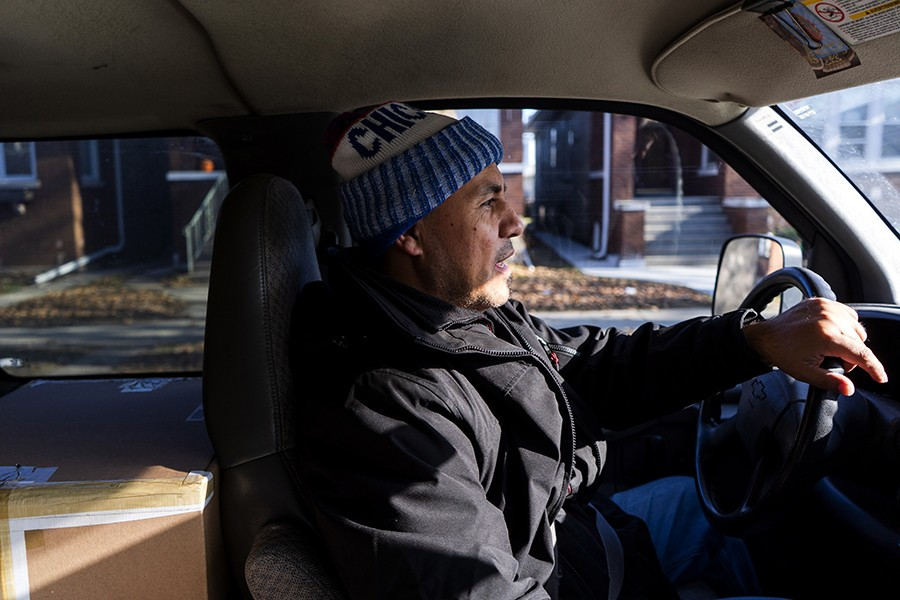 Mitch Villaseñor drives all over Illinois and sometimes even Wisconsin to pick up balikbayan boxes. - PAT NABONG