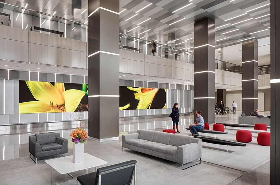 """The lobby of One Prudential Plaza, where the Chicago Pedway soundwalk """"Hear Below"""" will begin. - COURTESY SOLOMON CORDWELL BUENZ/DARRIS LEE HARRIS"""