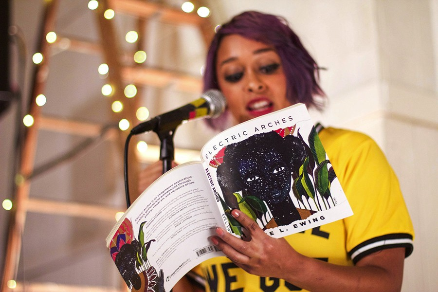 Eve Ewing at the release party for Electric Arches - LAUREN MILLER