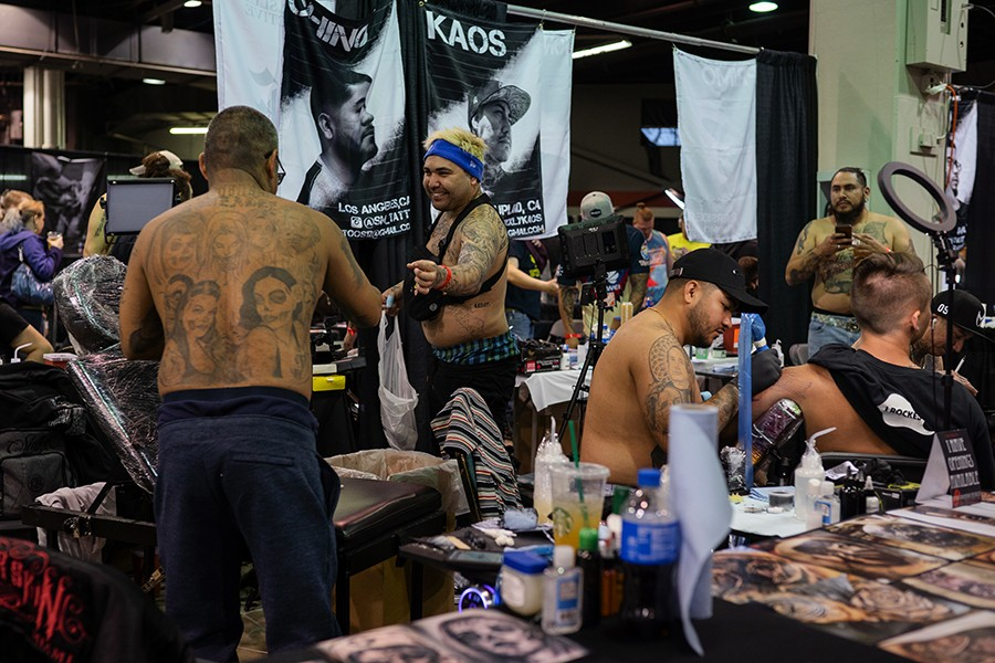 Roy Gonzalez, 38, and his colleagues from Miami and Los Angeles were among the hundreds of artists who attended the convention. - PAT NABONG