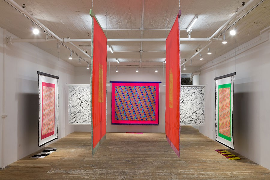 "Lisa Alvarado's solo show ""Sound Talisman"" at Bridget Donahue gallery in New York - COURTESY THE ARTIST"