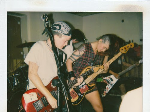 Tribe 8 plays a Homocore show at Czar Bar in the early 90s. - MARK FREITAS