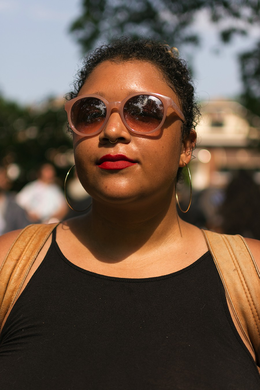 "Alexis Bennett: ""Dyke March gives me a space to commune with other queers like myself and see myself represented in so many other people. Right now it's such a respite from daily fatigue, from what we see in the news, and experience day to day as queers."" - ROBYN DAY"