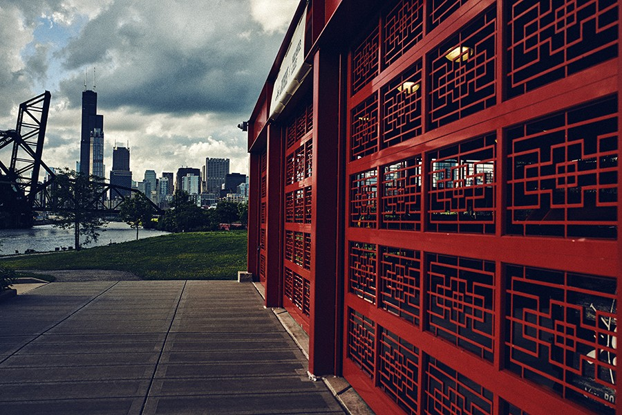 The REI boathouse at the Chinatown stop in Ping Tom Memorial Park rents kayaks to travel the river. - MAX THOMSEN