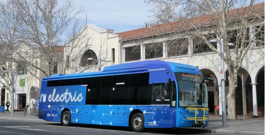 Carbridge Toro BYD Electric Bus number 711, from Canberra, Australia - YOUTUBE USER CAT BUS
