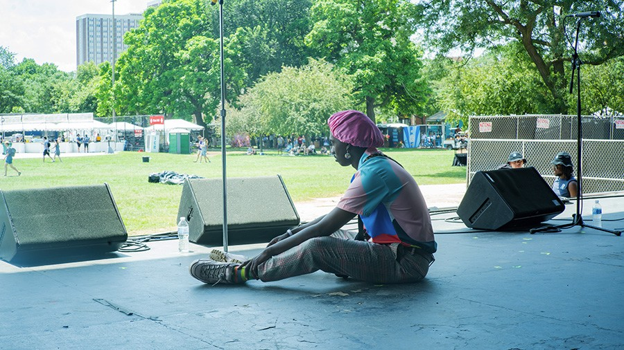 Ric Wilson at soundcheck for his Pitchfork 2019 performance. - TIM NAGLE