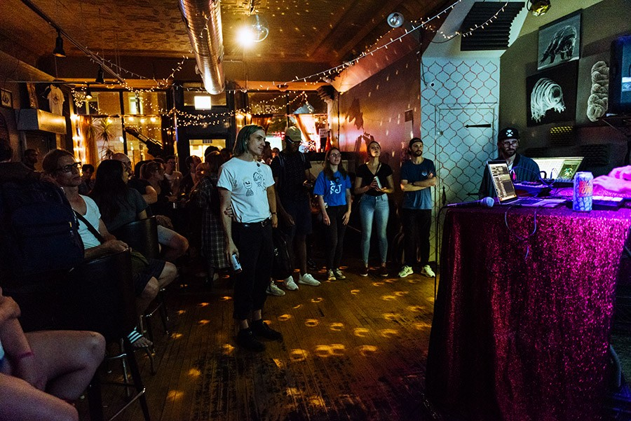 Cafe Mustache during Open Beats - ALLISON ZIEMBA FOR CHICAGO READER