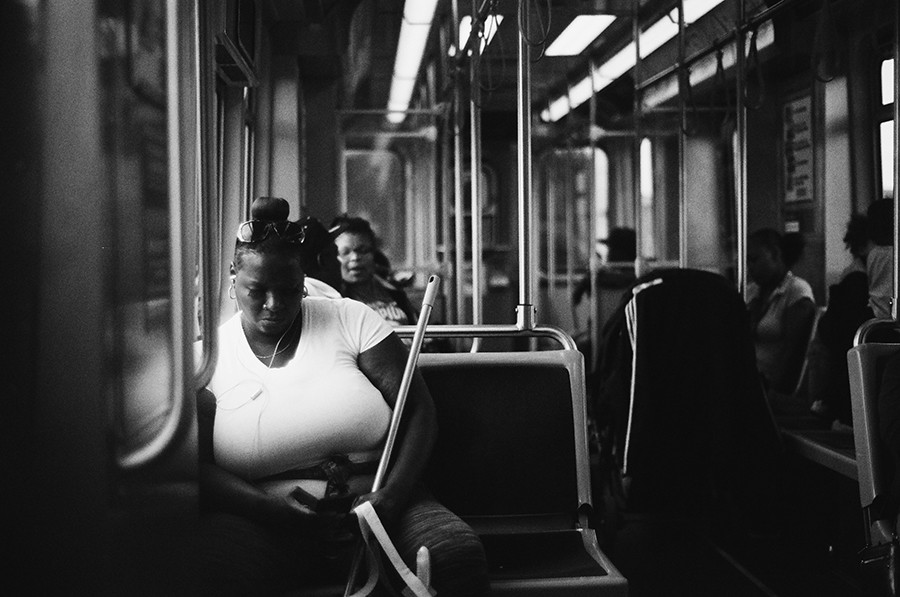 A woman heads westbound. - W.D. FLOYD FOR CHICAGO READER