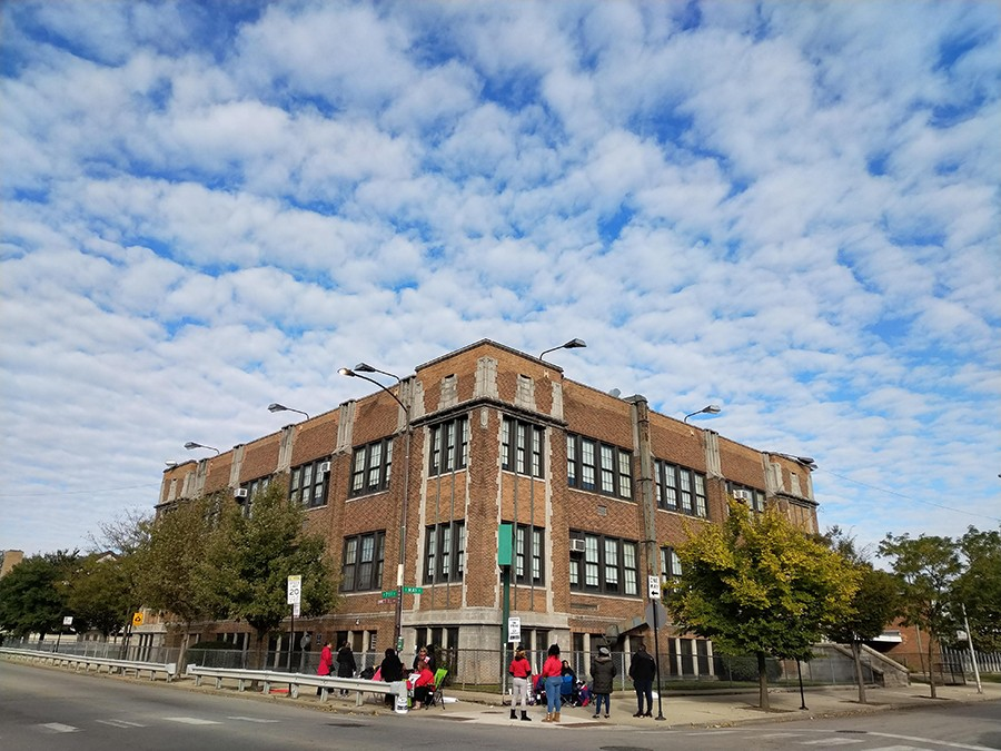 Bond Elementary School in Englewood is struggling with a staff shortage and overcrowded classrooms. - MAYA DUKMASOVA FOR CHICAGO READER