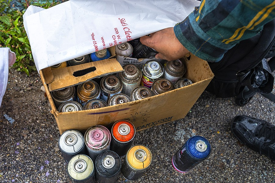 In Chicago, it's illegal to buy spray paint. But it's not illegal to own spray paint. - KIMKOVACIK FOR CHICAGO READER