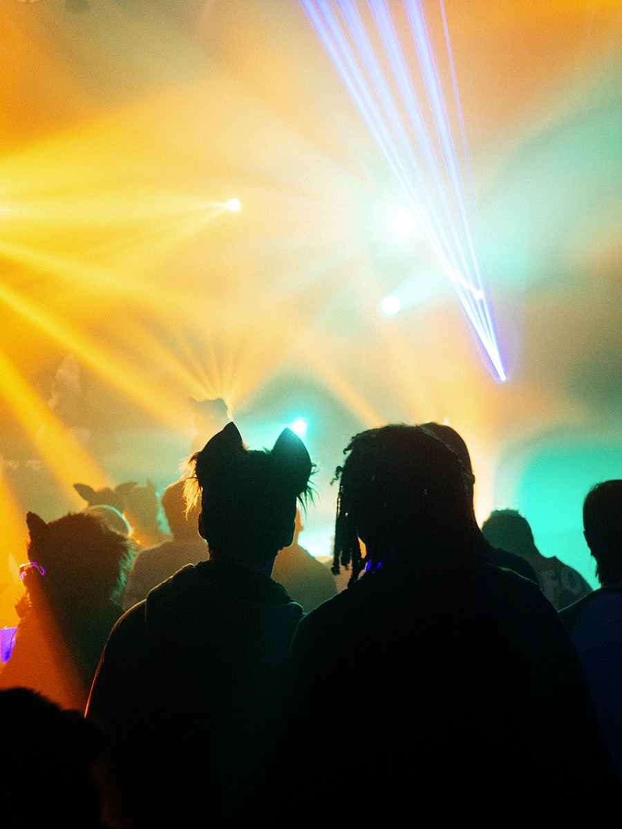 Saturday night dance party at Midwest FurFest - JAMIE M. MOORE FOR CHICAGO READER