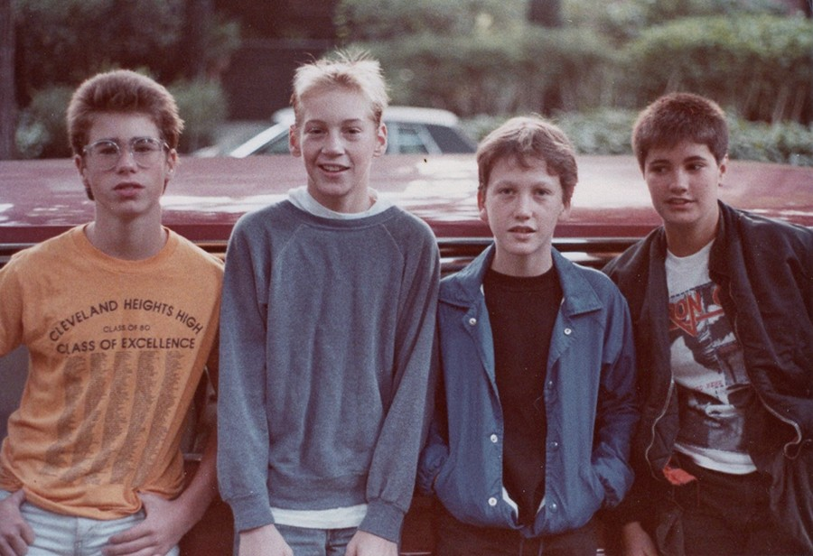Verböten during their short existence in the early 80s: Zack Kantor, Chris Kean, Jason Narducy, and Tracey Bradford - COURTESY PITCH PERFECT PR