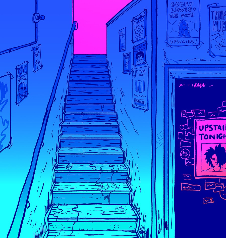 """Take three seconds and ask yourself if a place is accessible for someone with a disability. Think about what that might entail, outside of """"Are there steps?"""" (though don't ignore that question either). - ILLUSTRATION BY FRANK OKAY"""