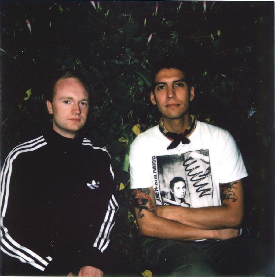 Chicago Research founder Blake Karlson (left) and his roommate Cesar Robles, who helps design the label's releases. The two of them have released music through Chicago Research as members of Product KF; Karlson has also recorded for the label with Civic Center and as Lily the Fields, Robles with Bruised and Conjunto Primitivo. - COURTESY CHICAGO RESEARCH