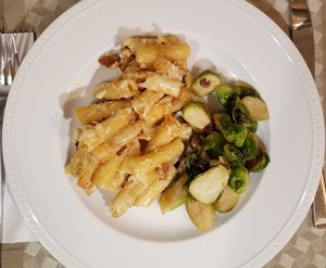 Mac and cheese—and Brussels sprouts - JOHN DUNLEVY