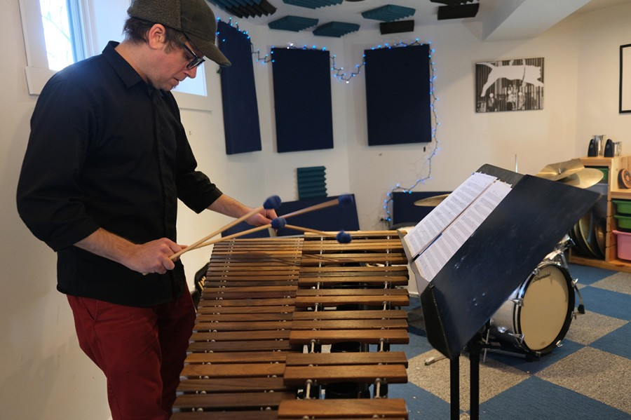 Tim Daisy's new collaboration with Ikue Mori incorporates a fair amount of his solo marimba playing. - EMMA DAISY
