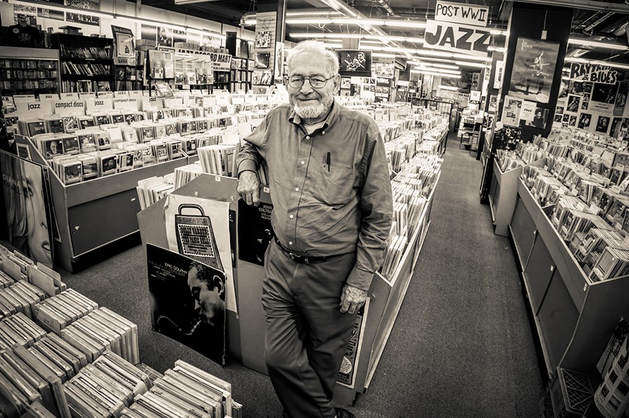 Bob Koester in the stacks at the Jazz Record Mart in 2009 - MICHAEL JACKSON