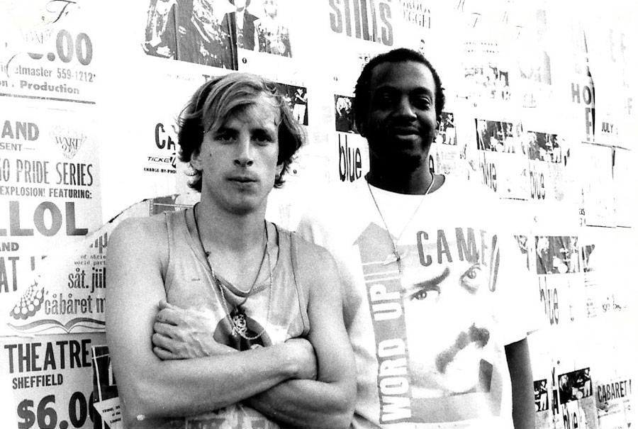 Terry Martin and Robert Ford on a flyering expedition - JUAN COLON