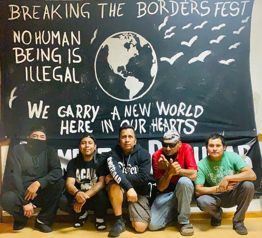Members, residents, and friends of La Casa del Inmigrante, pictured earlier this month: Agustín, Iván, Marcos Hernández, Juan Herrera, Pedro - COURTESY MARCOS HERNÁNDEZ