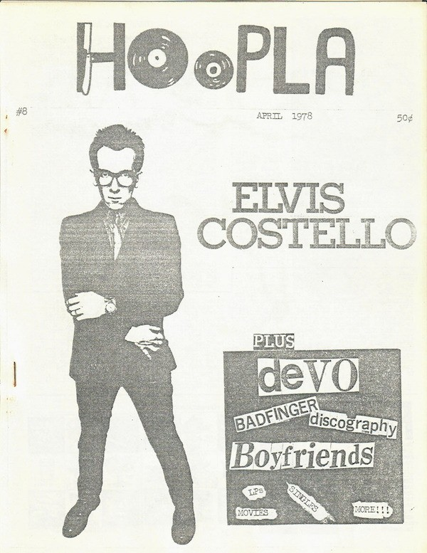 Issue eight of Peoria punk zine Hoopla, published in April 1978