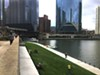The Chicago Riverwalk on a sunny day