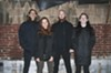 Code Orange, minus their new member: Jami Morgan, Reba Meyers, Joe Goldman, and Eric Balderose