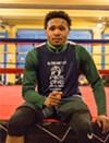 Isiah Cook met Hazelgrove when he was ten years old, and has been working with her ever since. Now at 20, he recently made it to the semi-finals of the local Golden Gloves tournament and spends much of his time at the gym teaching and mentoring younger boxers.