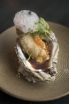 Tempura-battered oyster with shiso