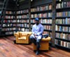 Theaster Gates in the library at the Stony Island Arts Bank