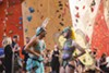 Abhijeet Rane, 24, and Jforpaydotcom, 25, race to the top of the wall. After climbing, Rane and Jforpaydotcom who do not climb often said they would love to climb more frequently.