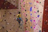 """Bambi Banks rappels down as they perform to """"The Climb"""" by Miley Cryus."""