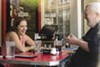 Rebecca Makkai and Albert Williams at the Chicago Diner, May 25, 2018