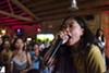Rapper and spoken-word artist Ruby Ibarra performs.
