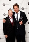 Michael Shannon with his 2013 Jeff Award for Best Actor for Simpatico and director Guy Van Swearingen of A Red Orchid Theatre