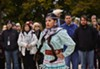 Maritza Garcia of the Mississippi Choctaw performing a jingle dress dance at a ceremony on October 26. The ceremony was held to recognize that the Field Museum rests on the homeland of three tribes.