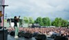 Saba on the Red Stage at last year's Pitchfork Music Festival