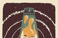 There's a face in a lava lamp on the gig poster of the week