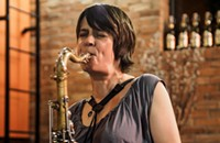 New York saxophonist Ingrid Laubrock plays Experimental Sound Studio on Monday