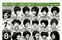 A whole bunch of wigs on the gig poster of the week
