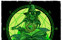 A spell-casting skeleton gets creepy on the gig poster of the week