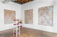 At Fernwey Gallery, abstract quilts convey the art of the archaeological dig