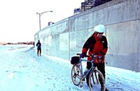 The ice-caked Oak Street curve is the most treacherous part of the lakefront