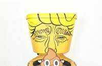A Chicago artist painted Donald Trump's face on a toilet filled with poop, and it's awesome