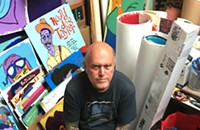 The Big Boys' Tim Kerr paints his heroes in Skokie