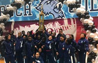 Horace Mann Elementary's Marching Mustangs don't need 76 trombones, just three trumpets (and a few other instruments too)