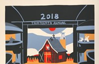 There's a barn in the theater on the gig poster of the week
