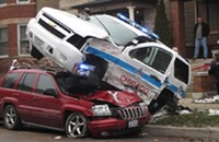 How often do emergency vehicles get into car accidents?