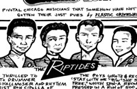 Sixties garage rockers the Riptides won their only studio session at a talent show