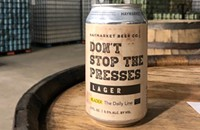 Don't Stop the Presses with this bittersweet lager