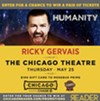 Enter for the chance to win a pair of tickets to see Ricky Gervais at the Chicago Theatre
